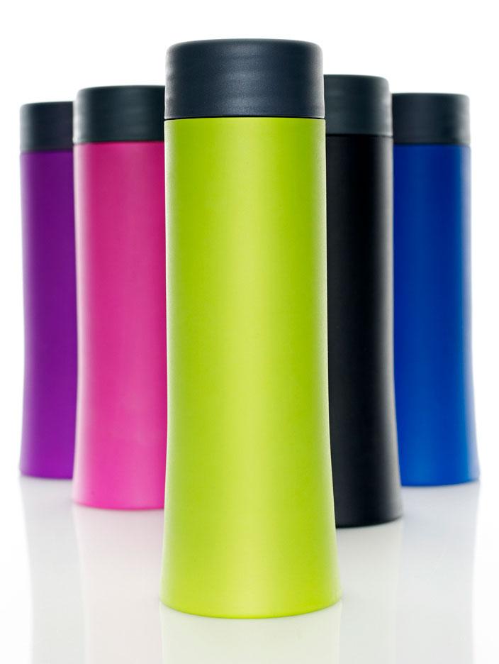 drikkeflaske i forskellige farver
