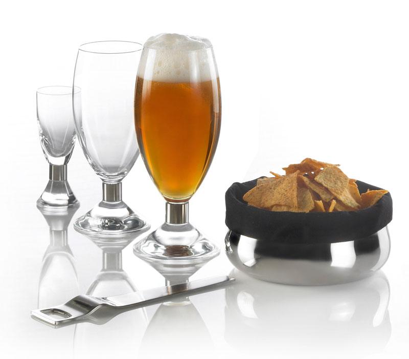 Elegance glas, oplukker, brødskål, erik bagger