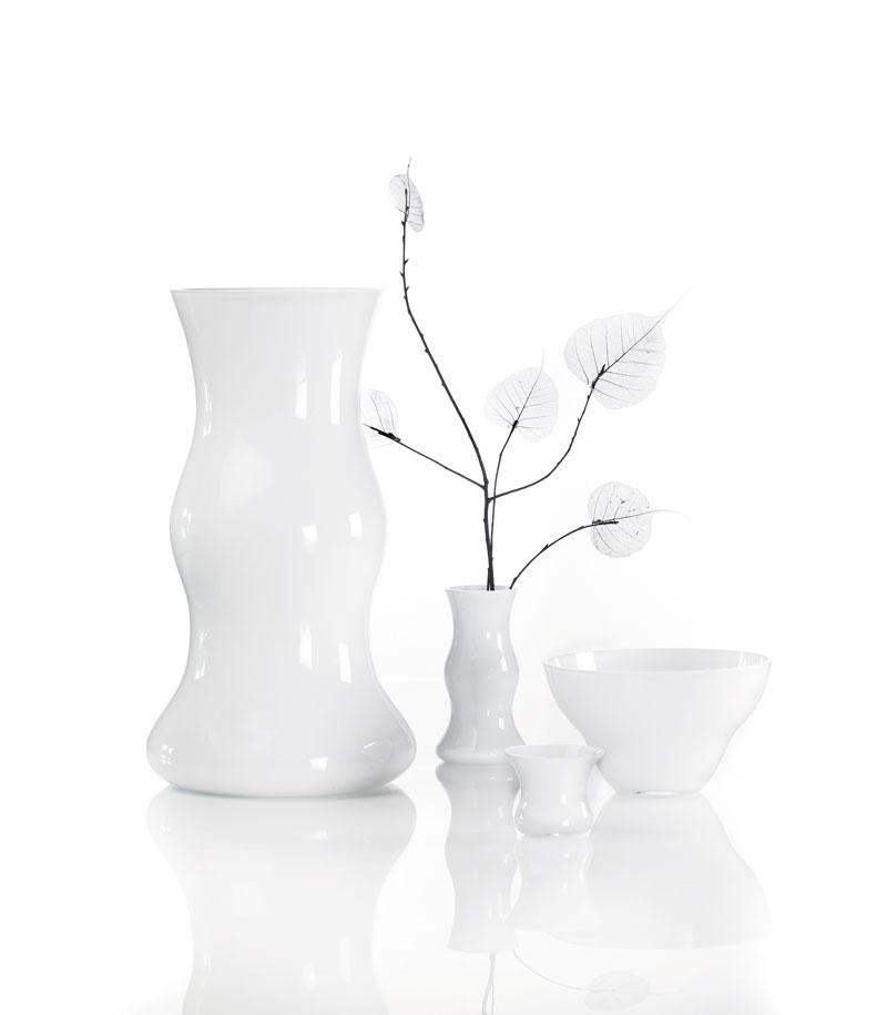 Hvide vaser og skål, Erik Bagger