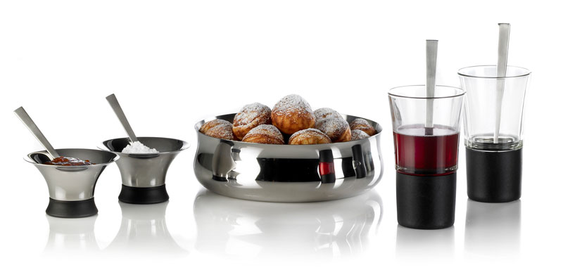 Julearrangement med glas og stål produkter af Erik Bagger