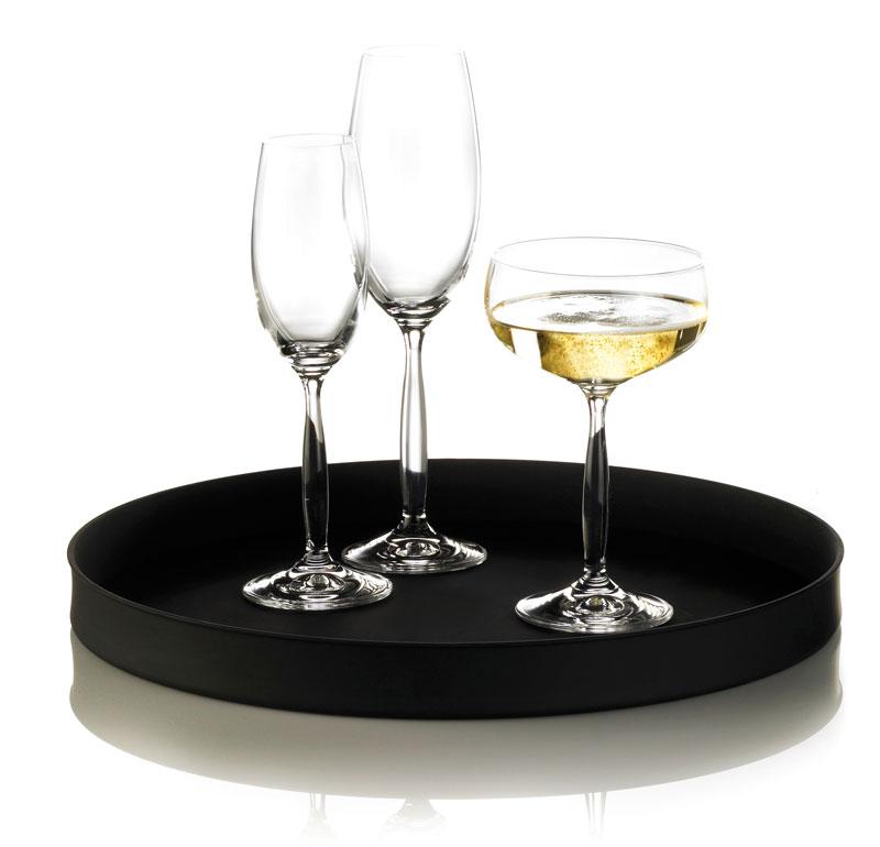 Serveringsbakke med opera cocktail og champange glas, Erik Bagger