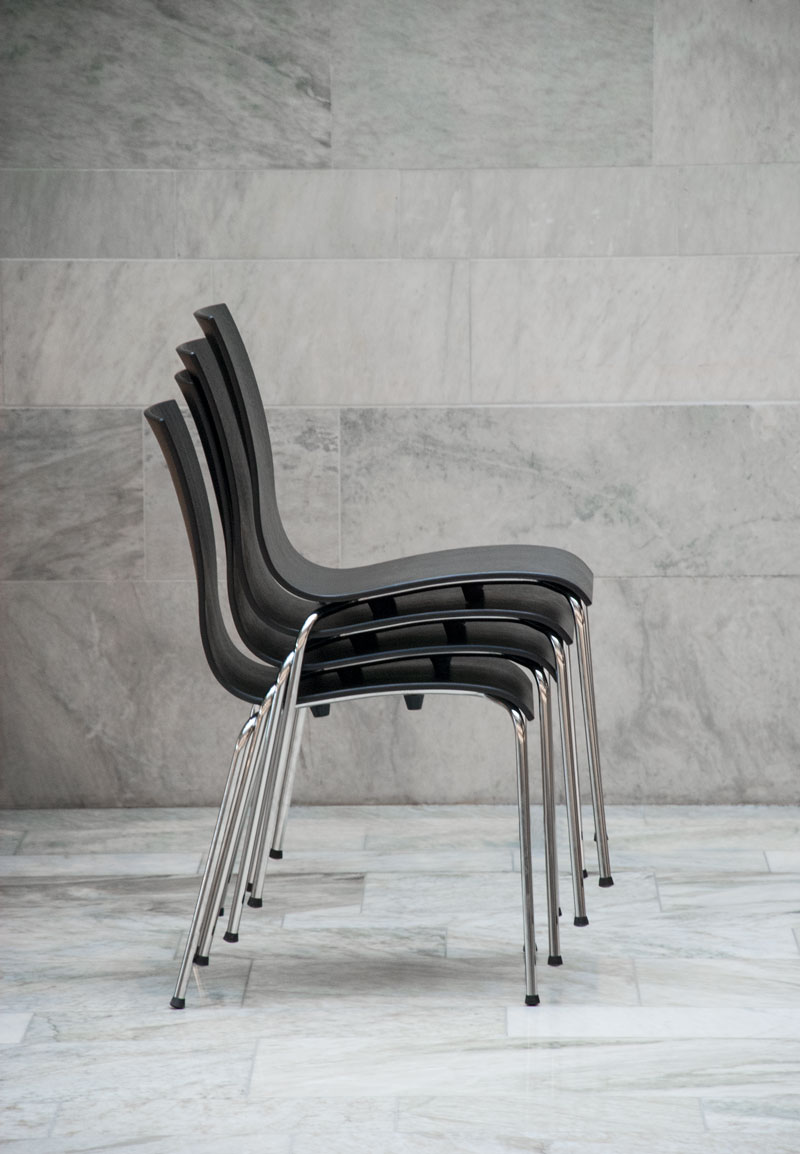 Copenhagen stackable chairs by Erik Bagger Furniture