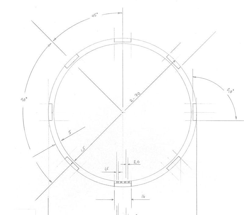 teknisk håndtegning af louisiana gaslampe, erik bagger