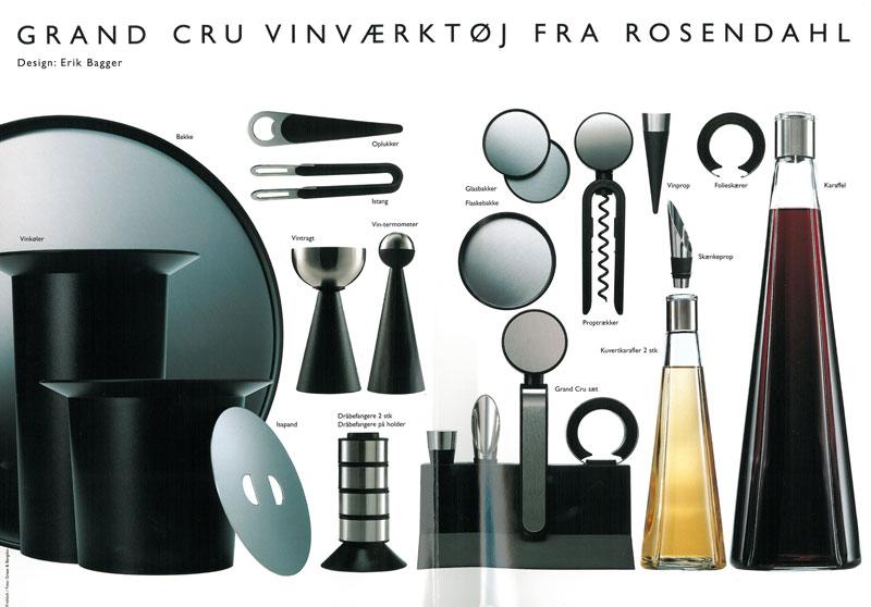 Grand cru vinværktøj fra rosendahl, design af Erik Bagger
