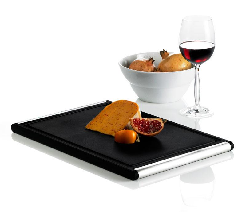 Skærebræt med ost og vinglas, design erik bagger