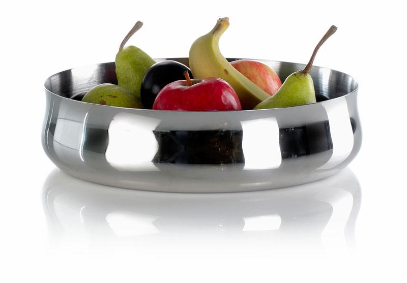 Skål i stål med frugter, erik bagger