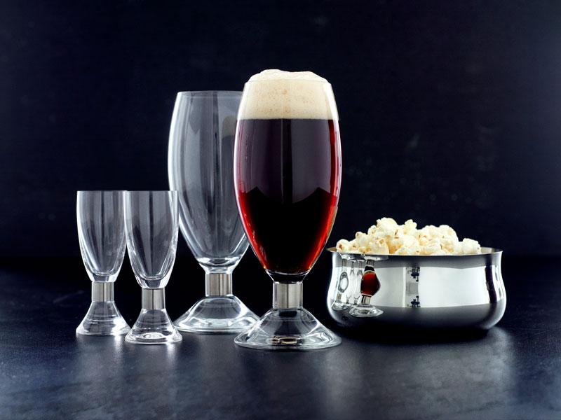 Elegance øl og shotglas af erik bagger