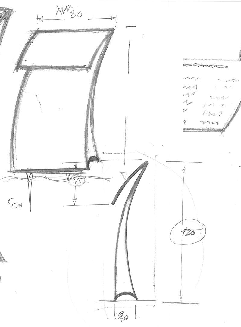 Den lille havfrue skilt skitse tegnet af erik bagger