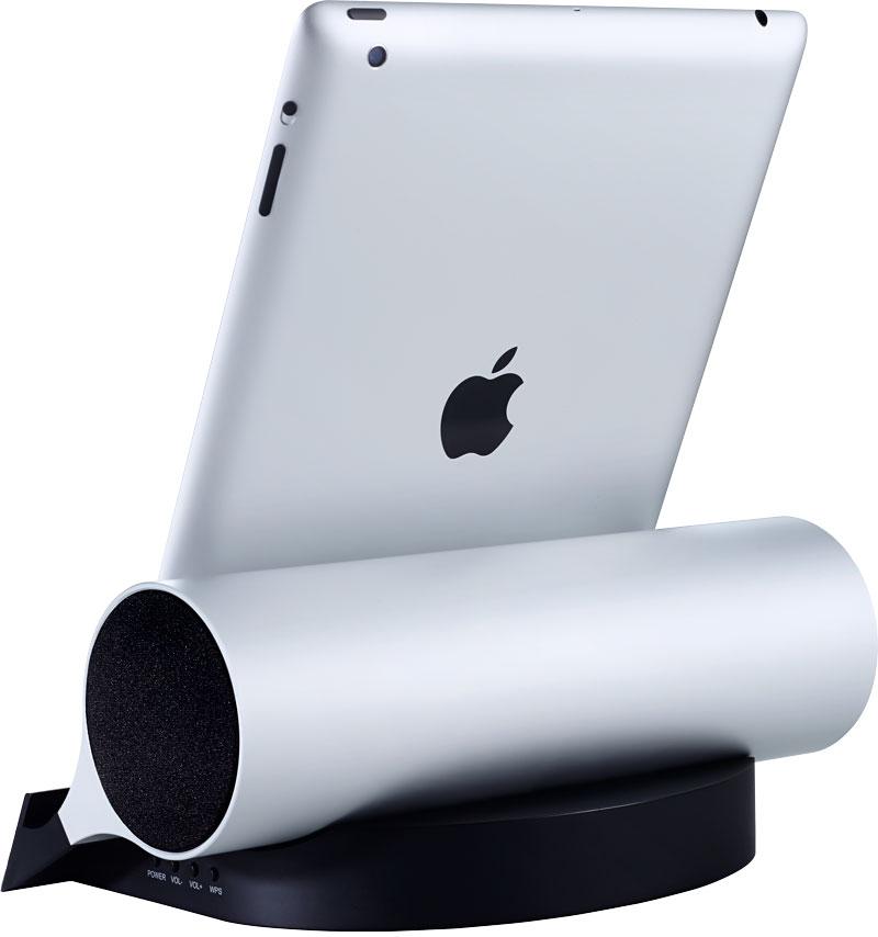 Ipad stand og højtaler designet af Erik Bagger