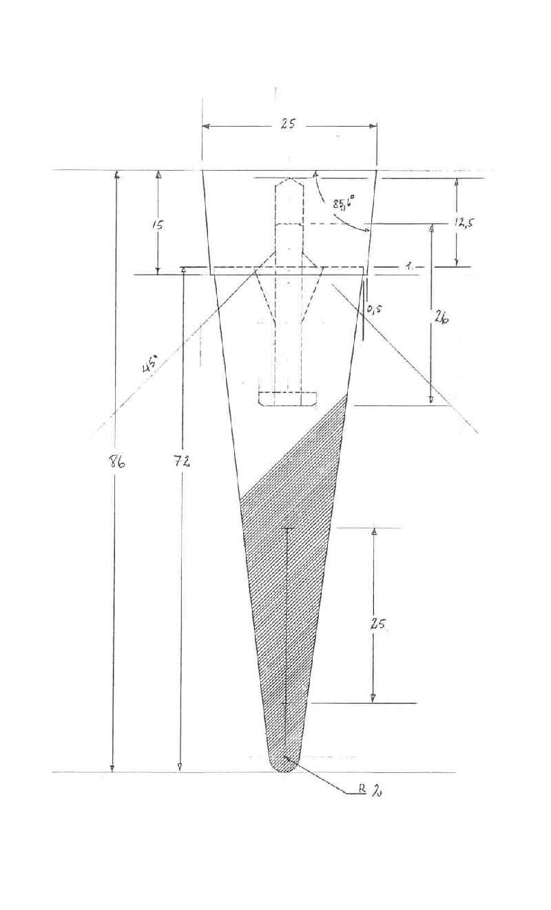Teknisk tegning af grand cru vinprop for rosendahl af erik bagger