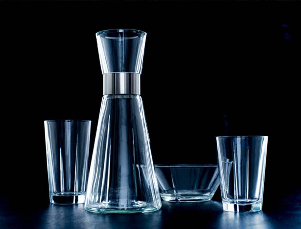 Rosendahls grand cru karafel, vandglas og skål