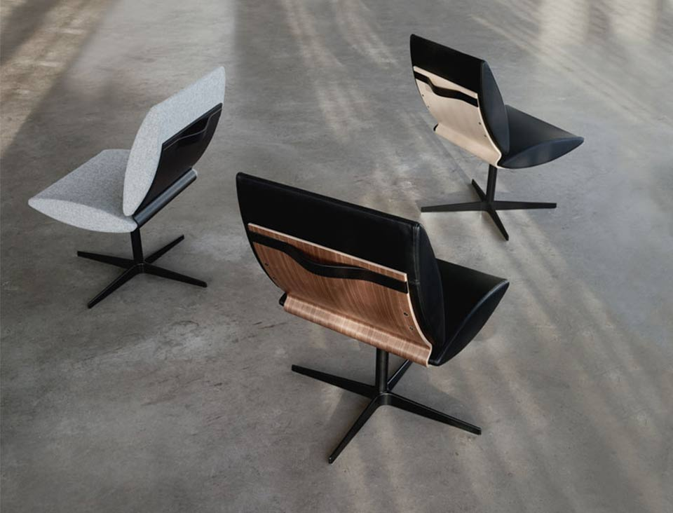 3 varianter af city chair two af Erik Bagger Furniture