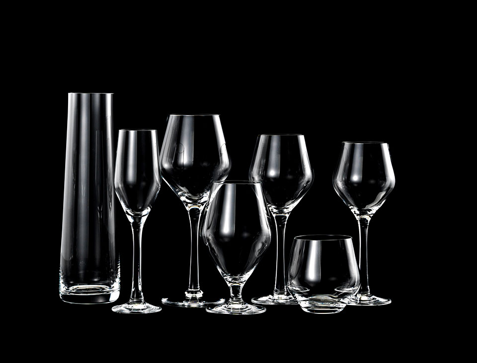 Signature glasserien designet af Erik Bagger